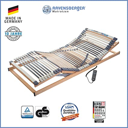 Ravensberger Matratzen® MEDIMED® Lattenrost   7-Zonen-Buche-Lattenrahmen   44 Leisten   ELEKTRISCH  Made IN Germany - 10 Jahr