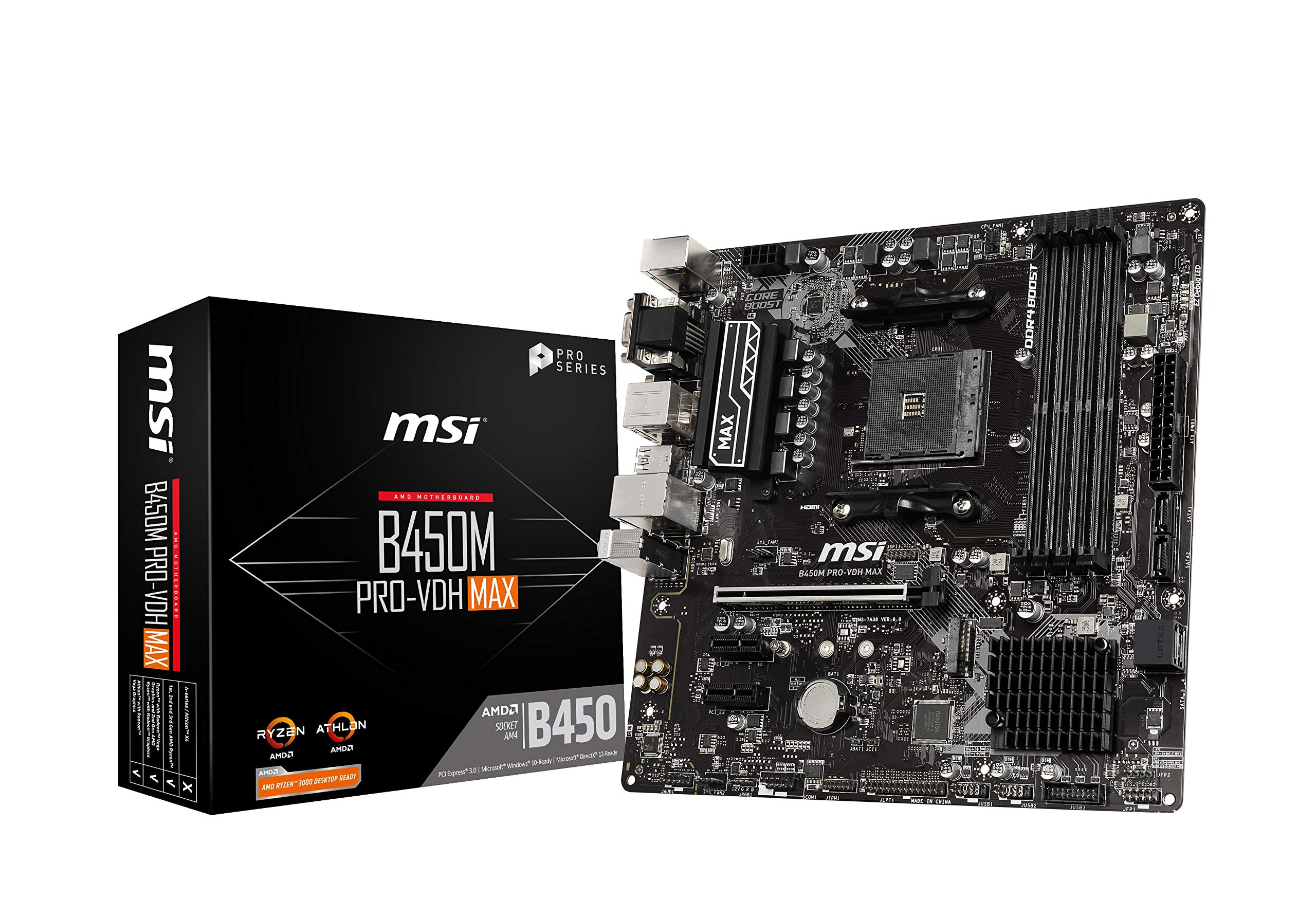 MSI ProSeries AMD Ryzen 2ND and 3rd Gen B450M PRO-VDH Max