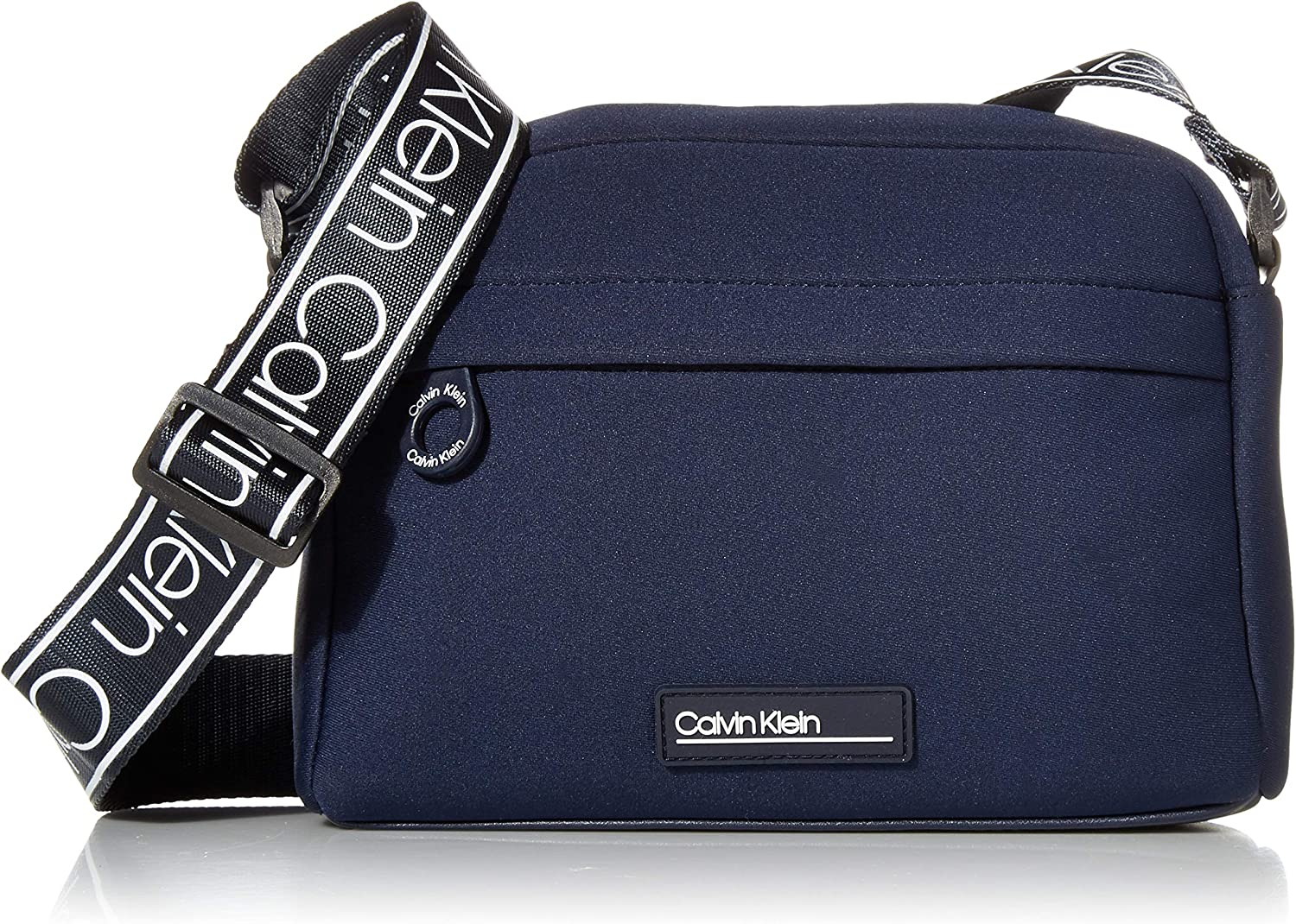Calvin Klein Vanessa Neoprene Top Zip Crossbody