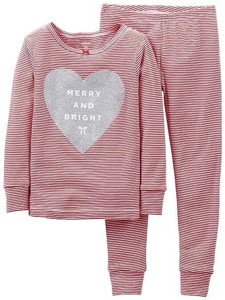 7a4865973e4d Amazon.com  Carter s Little Girls  2 Piece Holiday PJ Set (Toddler ...