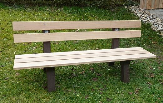 Banco De Jardín Parque Banco Para Jardín reciclado Park Banco roble plástico: Amazon.es: Jardín