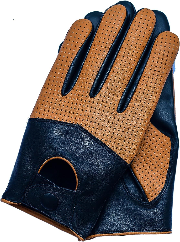 Riparo Motorsports Men's Half Mesh Leather Driving Gloves 91vLJ4slUDL