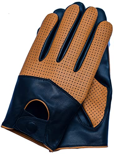 Riparo Motorsports Men's Half Mesh Leather Driving Gloves