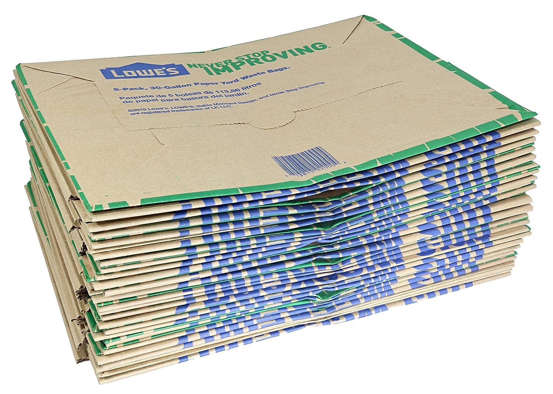 Amazon.com: Lowe\'s 30 Gallon Heavy Duty Brown Paper Lawn and Refuse ...