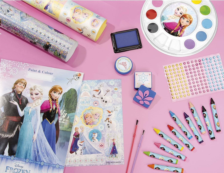 TM Essentials Frozen Kit de création XXL avec carnets de coloriage,  tampons, Autocollants également 40D et Brillants, peintures et Strass ...