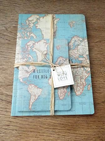 A little book for big ideas world map a5 book and notepad with a little book for big ideas world map a5 book and notepad with love gift gumiabroncs Gallery