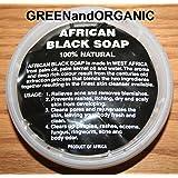 Original Authentic GREENandORGANIC Brand 100% Natural Herbal Virgin RAW Organic Pure African Black Soap Paste 8oz Tub/Jar/Deli Container Premium Acne Eczema Skin Body Hair cleanser Unrefined Ghana
