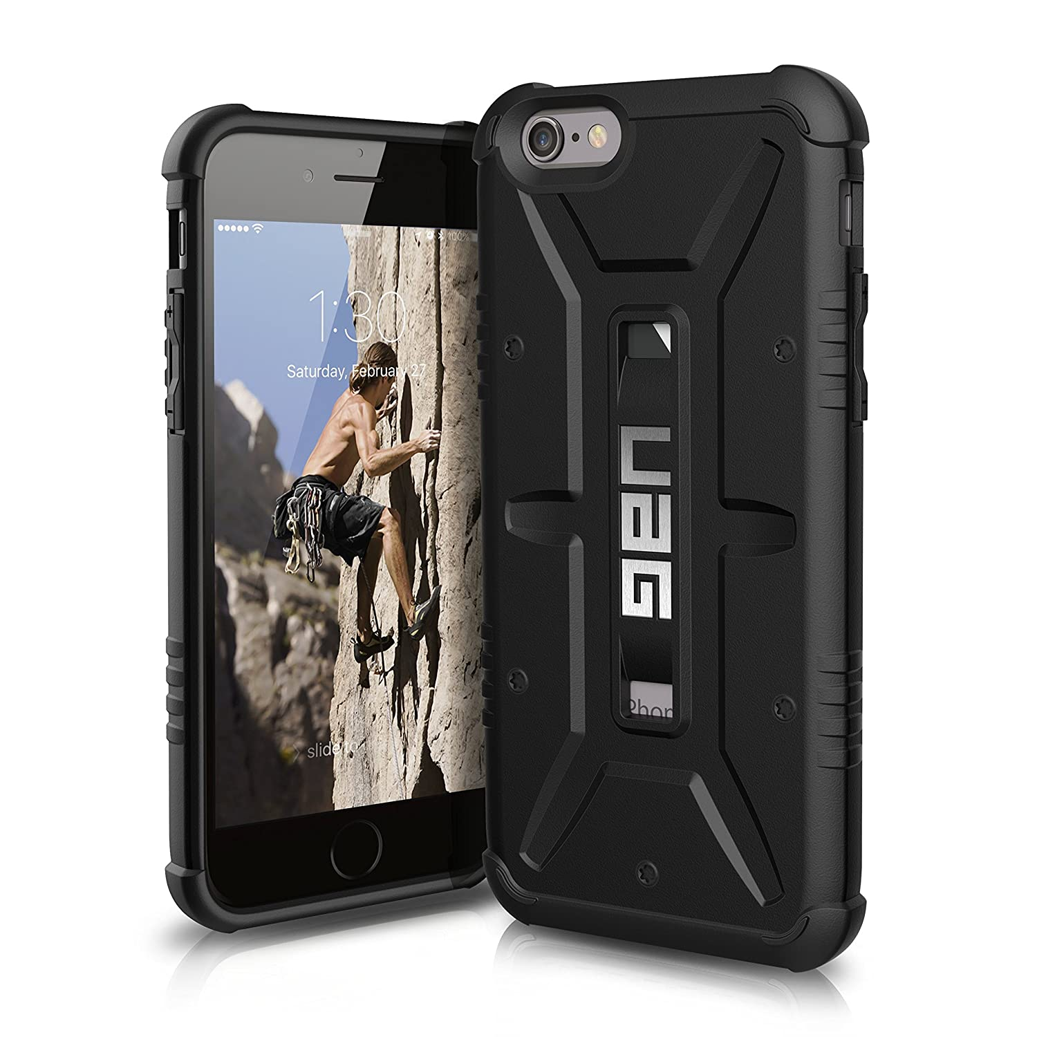 buy popular d043e 738d7 UAG iPhone 6 / iPhone 6s [4.7-inch screen] Feather-Light Composite [BLACK]  Military Drop Tested Phone Case