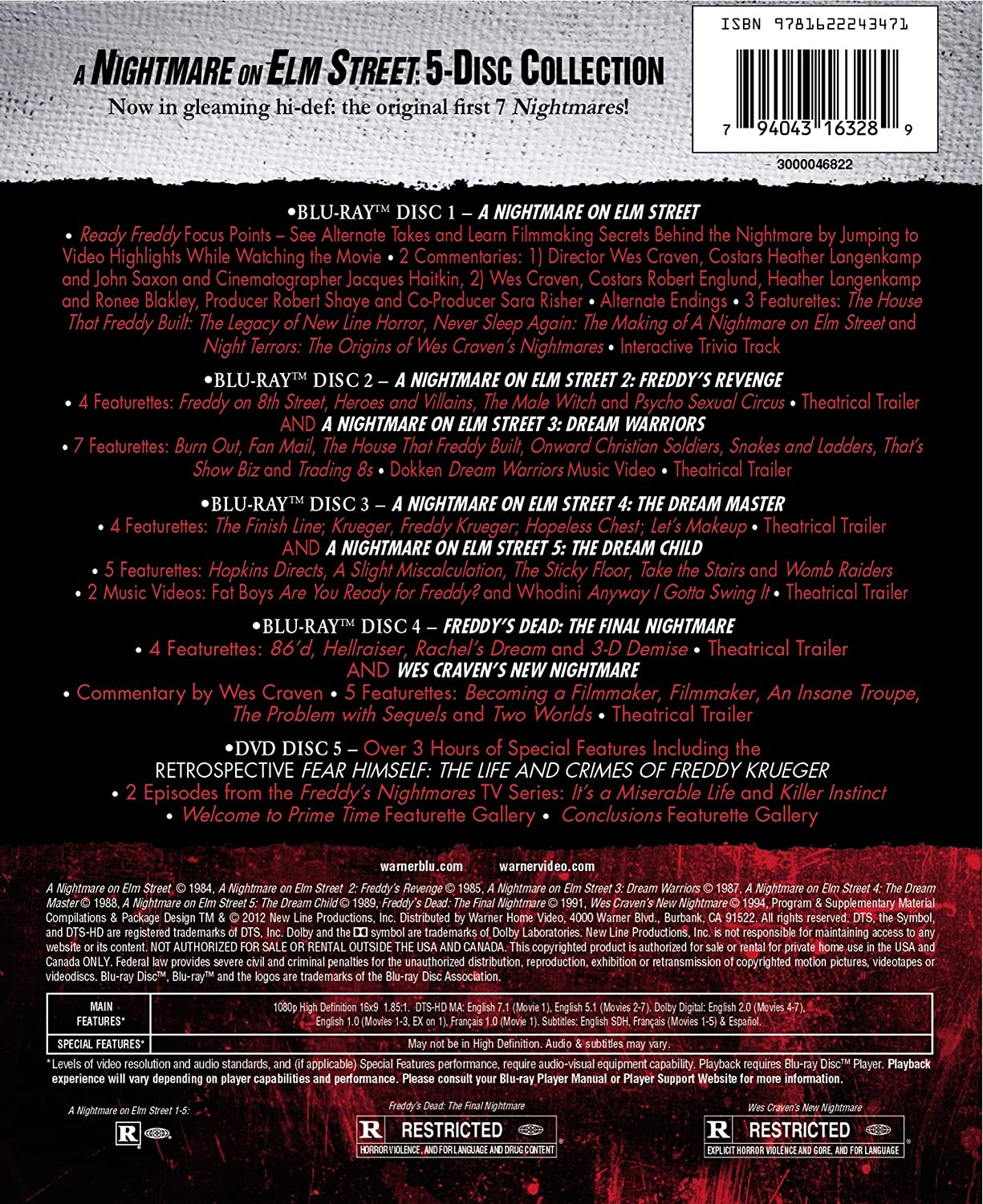 Amazon com: A Nightmare on Elm Street Collection (All 7