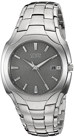 Amazon.com  Citizen Men s Eco-Drive Stainless Steel Watch with Date ... bef8bfb918a5