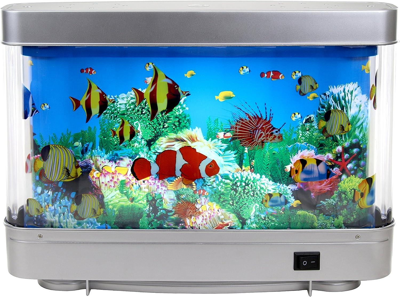 Amazon Com Lightahead Artificial Tropical Fish Aquarium Decorative Lamp Virtual Ocean In Motion Marine Life A Pet Supplies