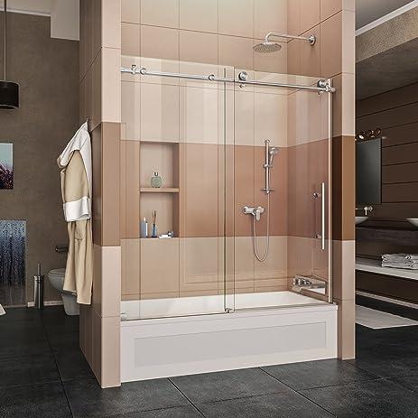 Dreamline enigma x 56 59 in width frameless sliding tub door 38 width frameless sliding tub door eventshaper