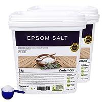 Nortembio Sale di Epsom 6 Kg; 2x6 Kg, Fonte Concentrata di Magnesio, Sale Naturale al 100%. Bagno e Cura Personale.