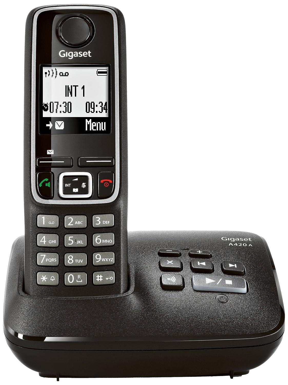 Gigaset A420 A DECT Negro - Teléfono (Teléfono DECT, 100 ...