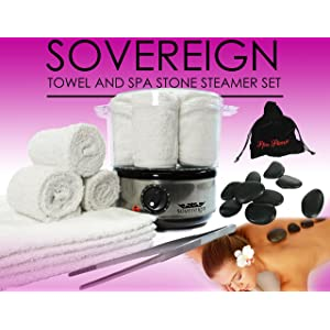 Spa Stone & Towel Steamer Set.