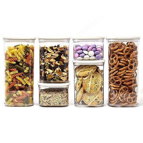 Amazoncom Airtight Dry Food Storage Container Set Food Saver