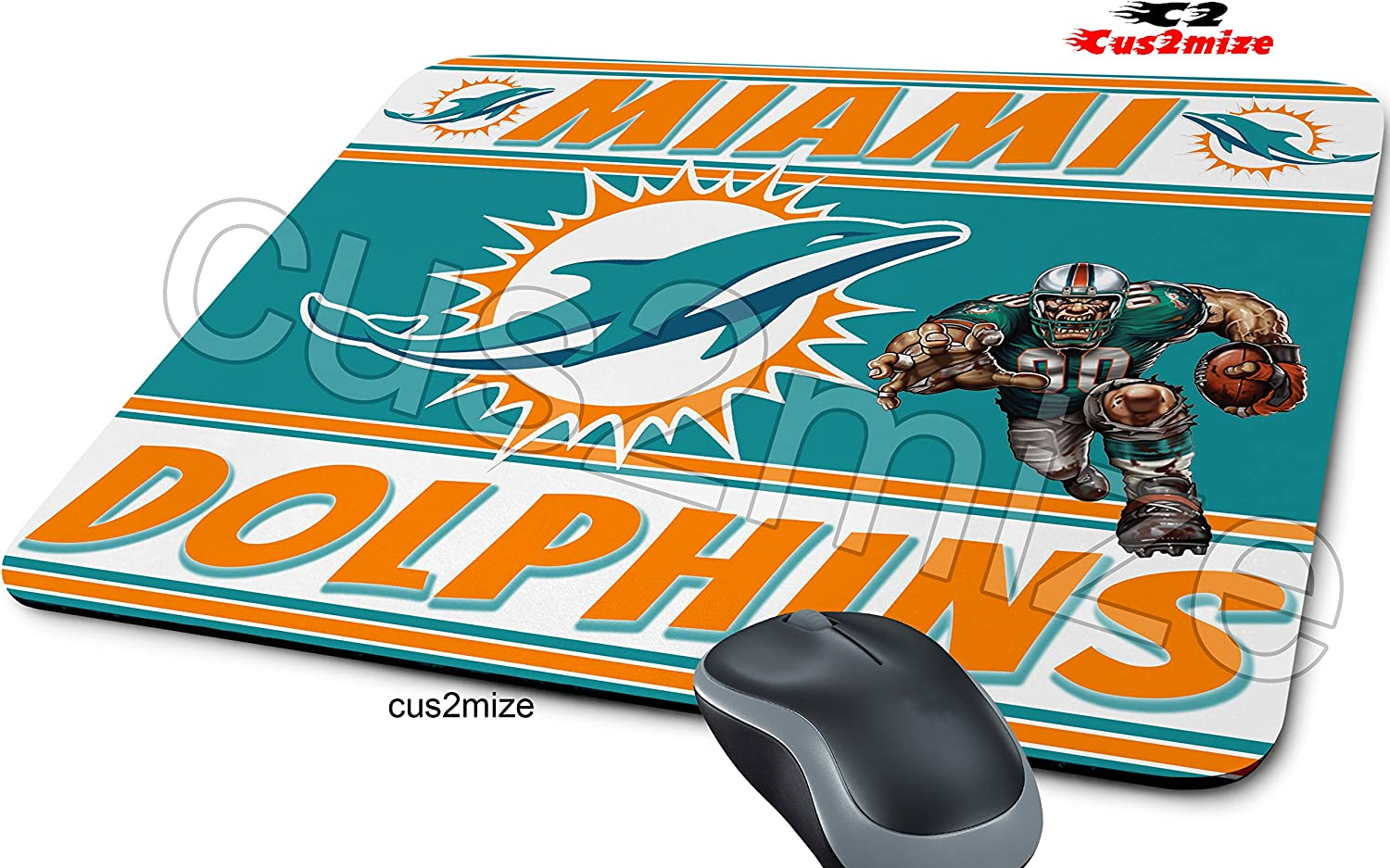Miami Dolphins Mouse Pad Miami Dolphins Mousepad Sold By Cus2mize 0723736676171