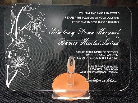 Amazon.com: Best BESTLIFE Acrylic Clear Wedding Invitation Card ...