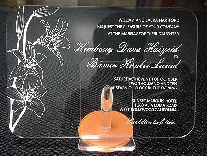 Amazoncom Bestlife Acrylic Clear Wedding Invitation Card With