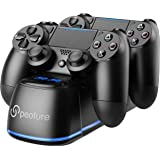 PS4 Controller Charger, Peoture PS4 Controller Charging Station with LED Light Indicator for Sony Playstation 4/PS4 Pro…