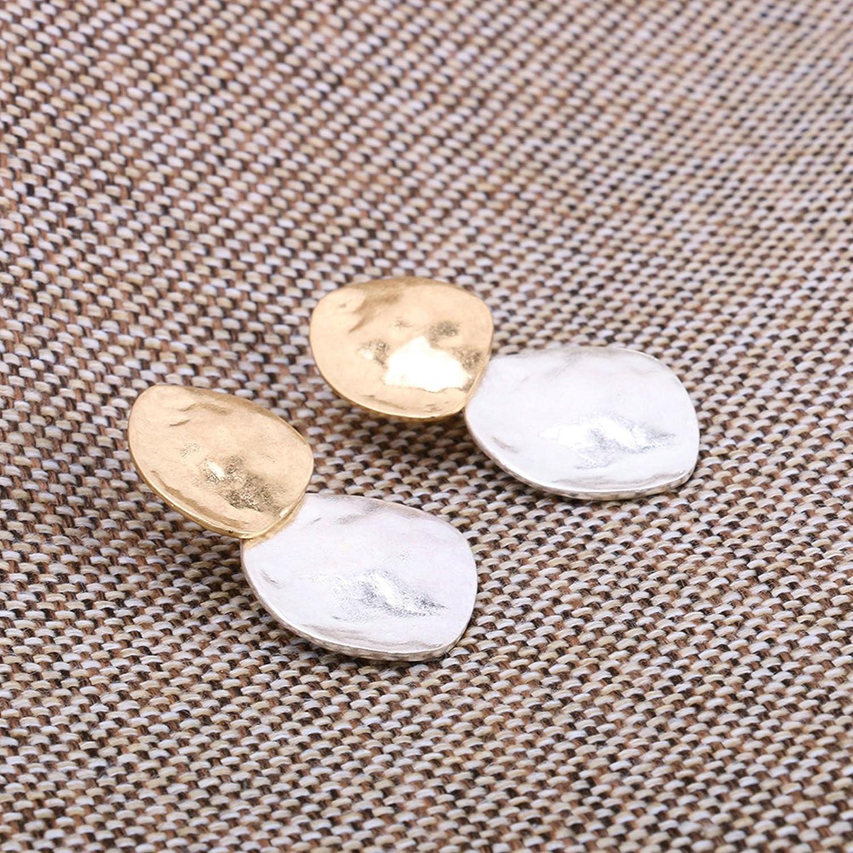 Aooaz Bijoux Boucles doreilles pour femmes Boucles doreilles populaires irr/éguli/ères or argent simple cadeau accessoires
