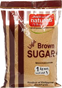 Natures Choice Light Brown Sugar Raw, 1 kg