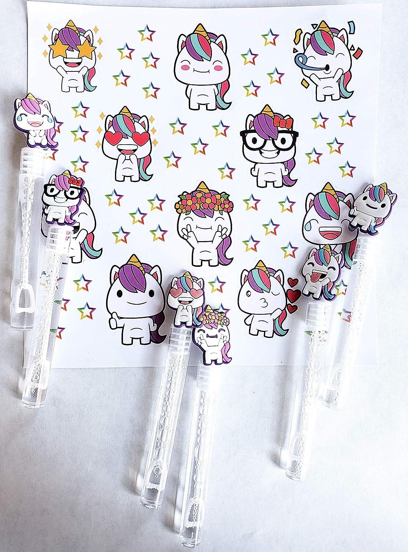 Amazon.com: Life Inc Pegatinas de unicornio para fiestas ...