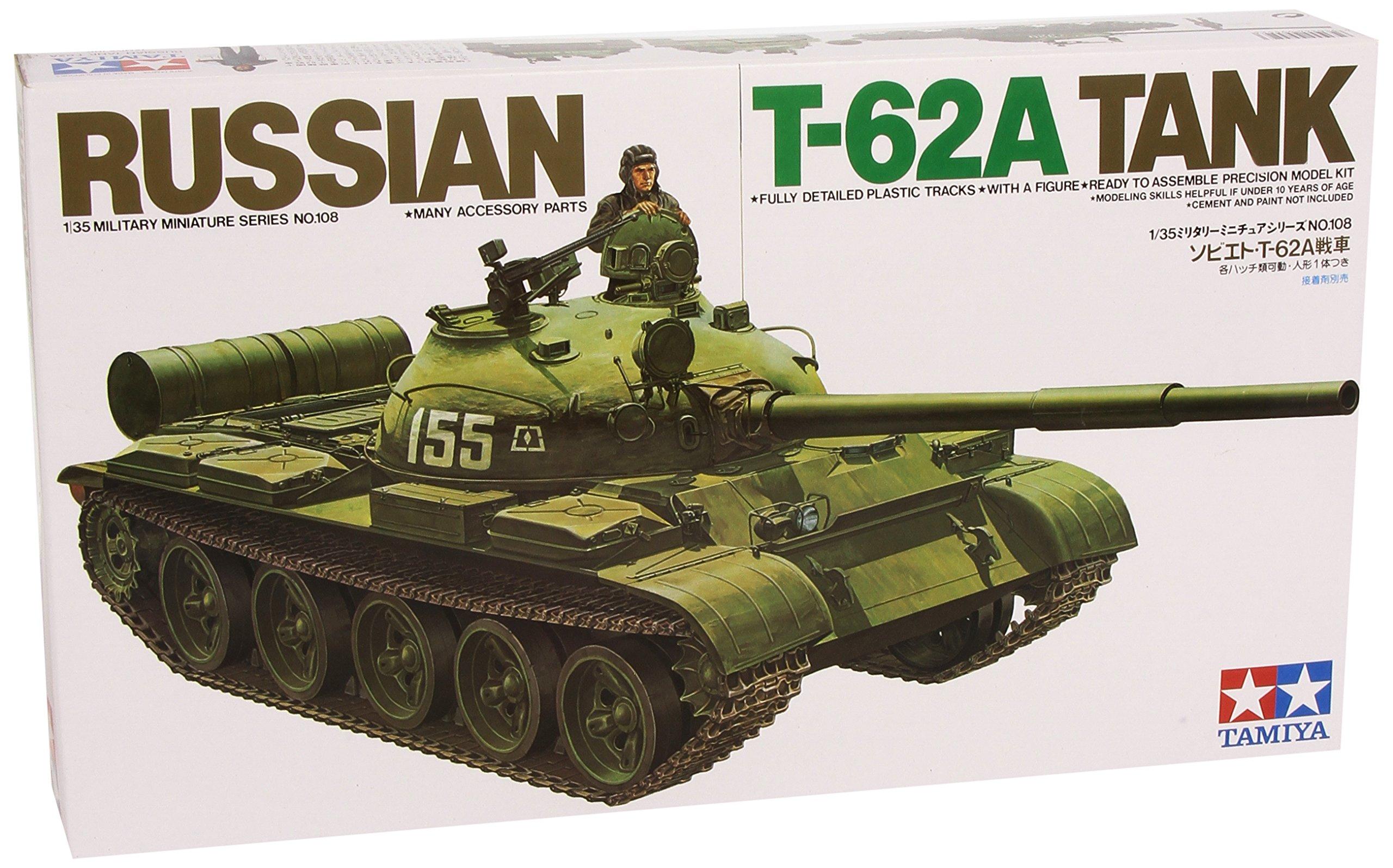 Tamiya - Russian T-62A Tank Tamiya, 1:35 (TAM35108) product image