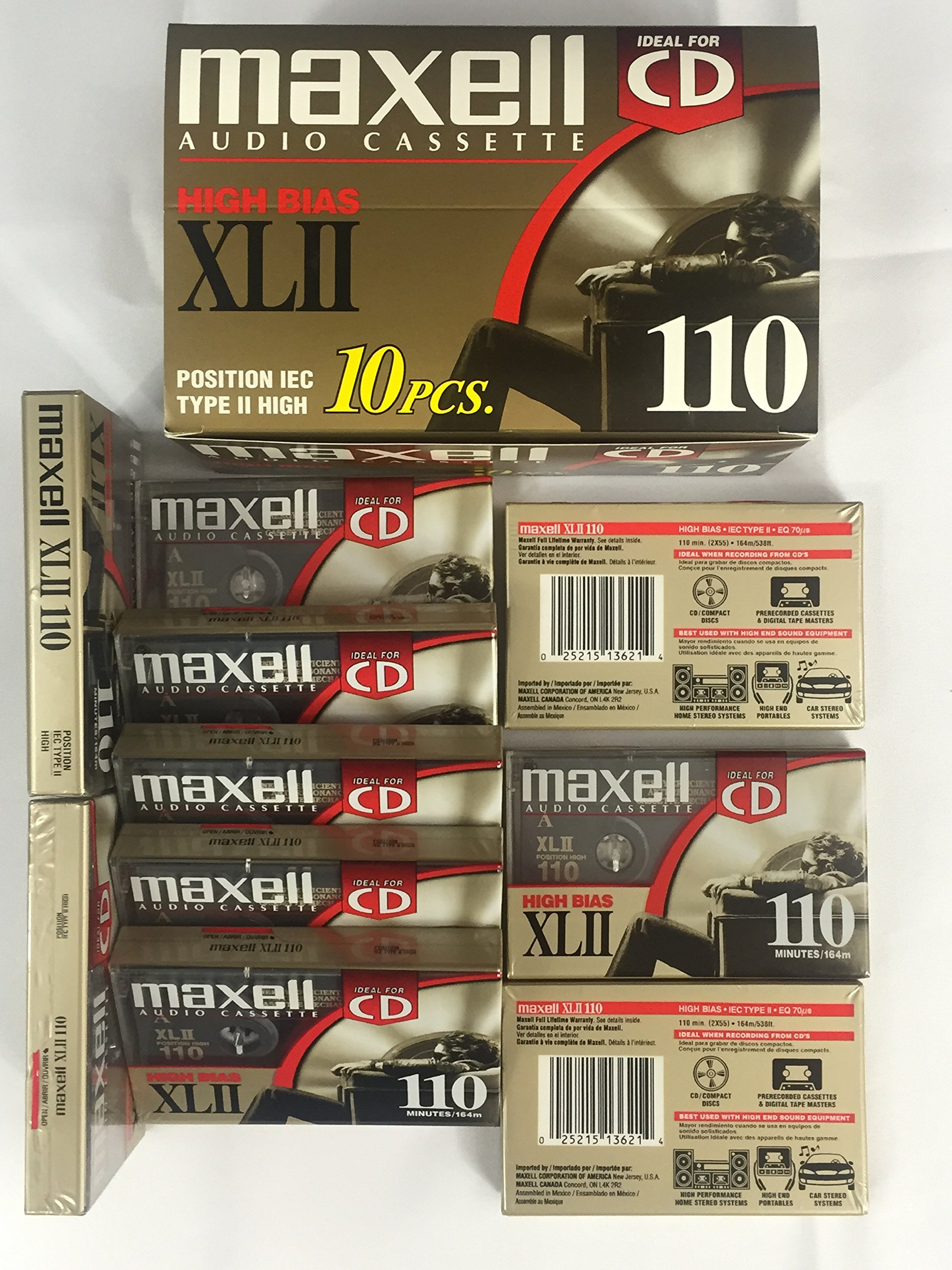 Maxell C110 Cassette XLII Box of 10 by Maxell