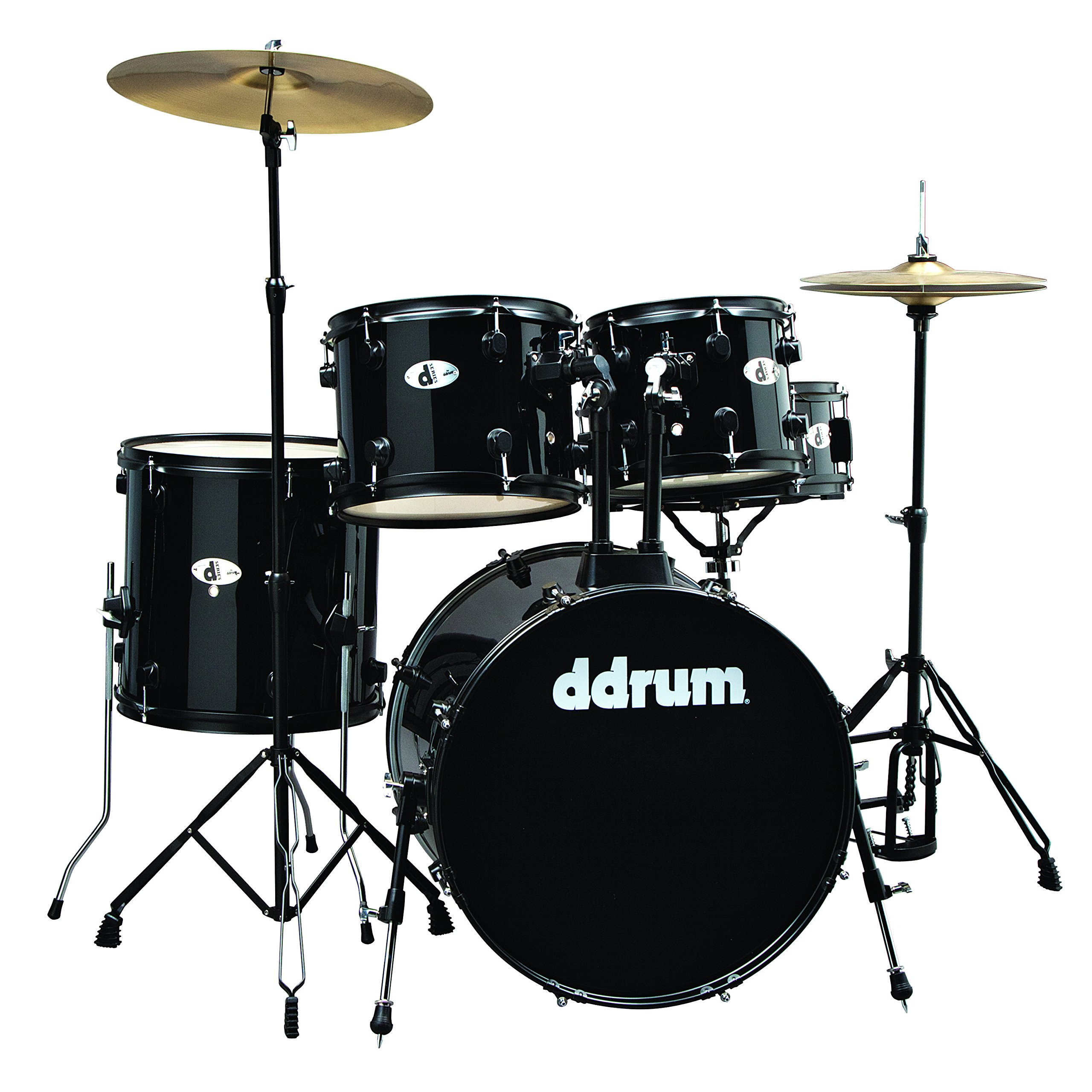 ddrum D120B MB D Series Drum Set 5 Piece Complete, Black