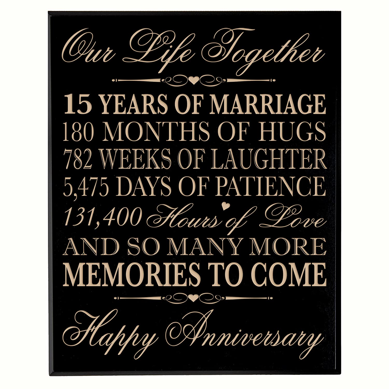 Lifesong Milestones 15th Wedding Anniversary Gift For Couple15th