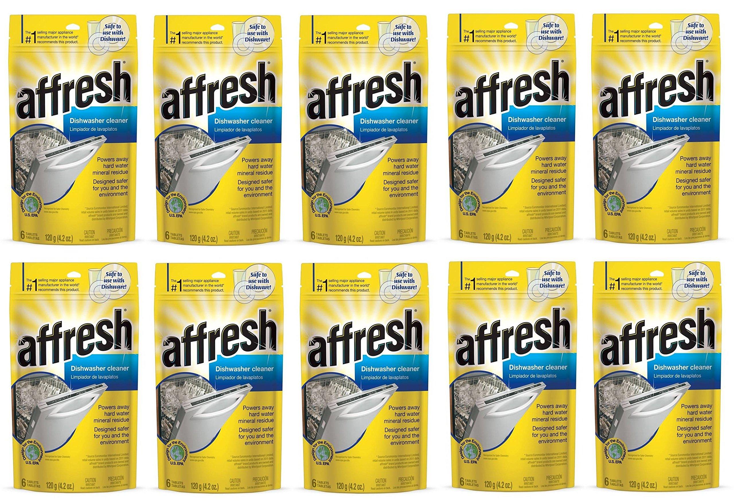 Affresh W10549850 Dishwasher Cleaner KXfYtF, 60 Tablets in Pouch