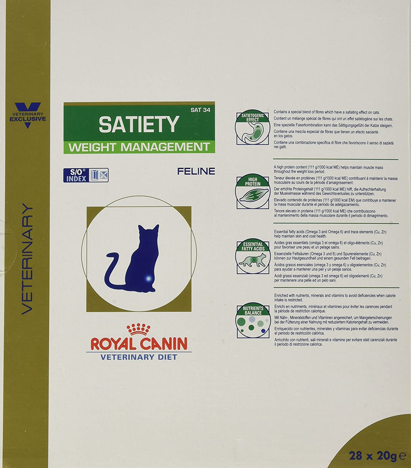 ROYAL CANIN Alimento para Gatos Satiety Support Weight Management SAT34-3.5 kg