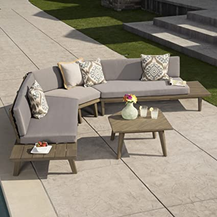 Amazon Com Great Deal Furniture Hillside Outdoor V Shaped 4 Piece