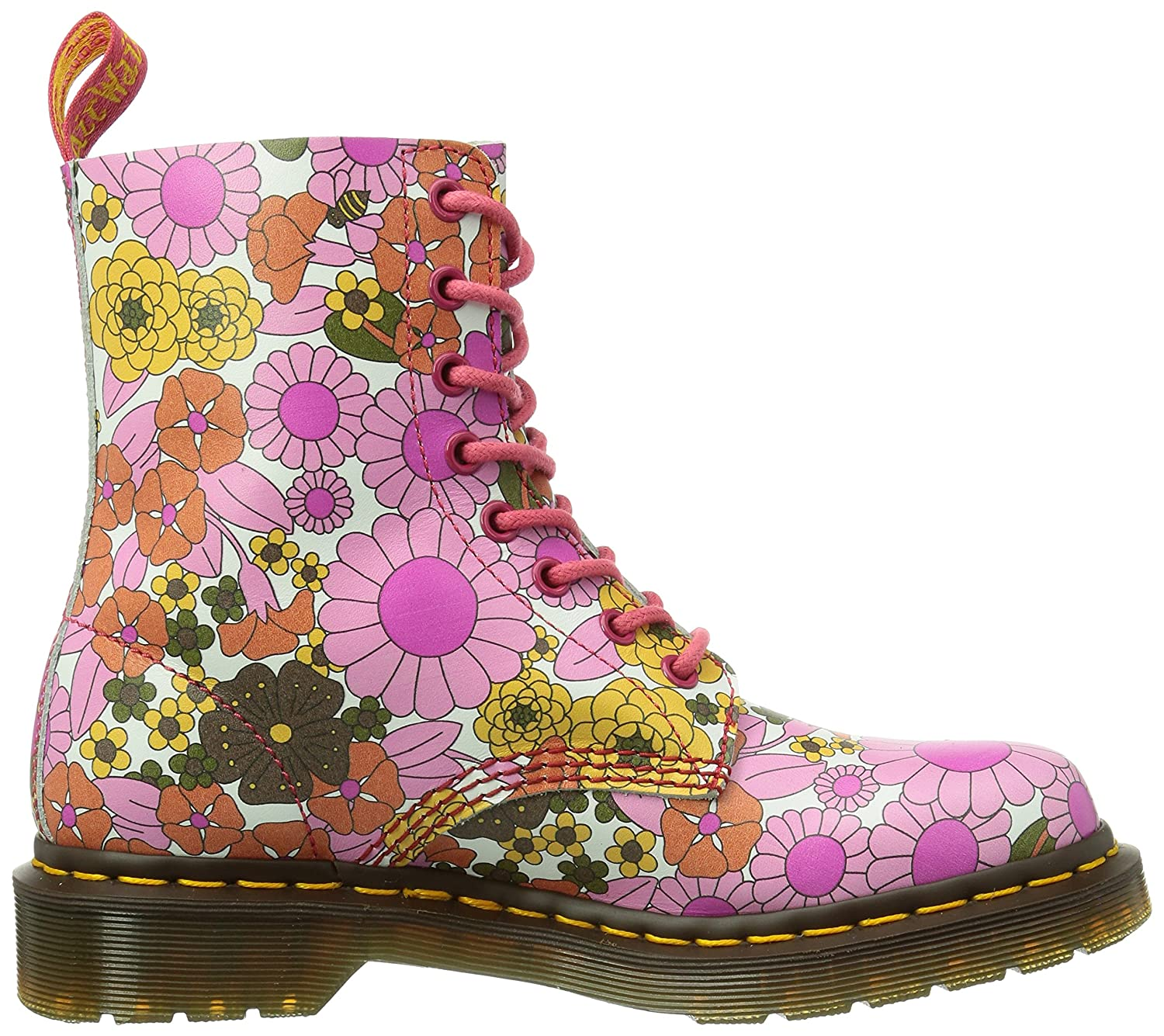 Dr. Martens Women's Pascal Leather Combat Boot B00IJNG37E M 3 UK/US Ladies 5 M B00IJNG37E US|Pink 7c0bc6
