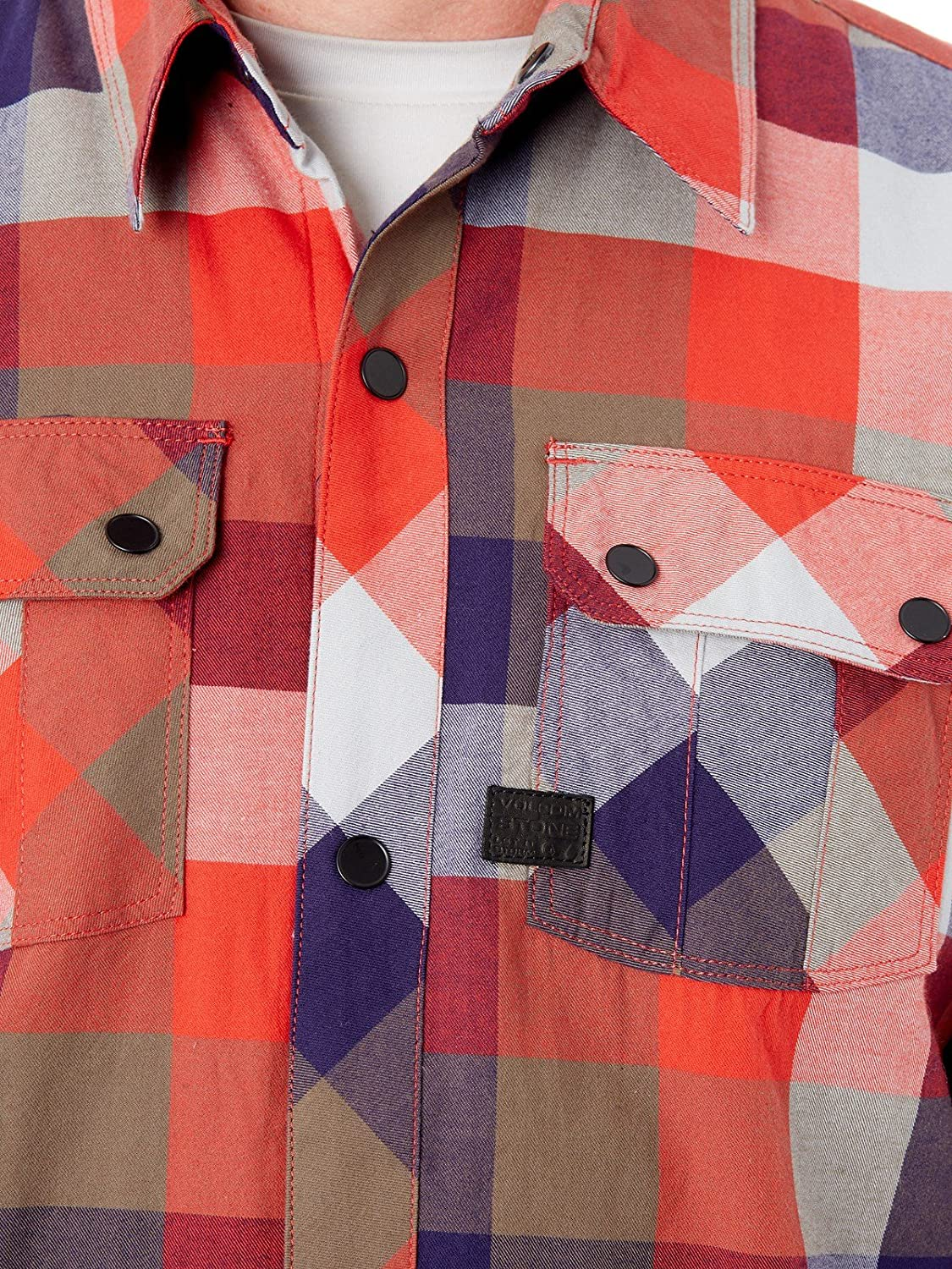 Volcom Simons Ins Flannel Fire Red