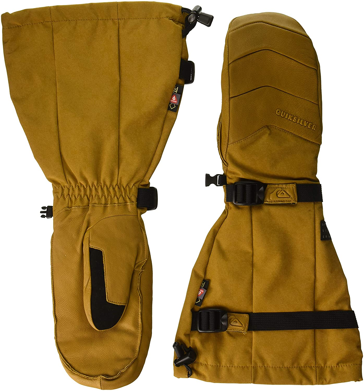 Quiksilver Mens Powder Mitt Freeride Long Fit Snow Gloves EQYHN03103