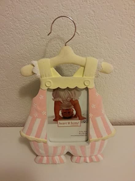 Amazon.com - Heart & Home by Connoisseur Baby Photo Frame (Pink and ...