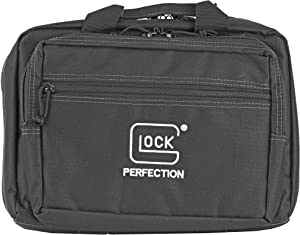 "Glock Perfection OEM Double Pistol Range Bag Case 12.5""x 9.5""x 4.5"""