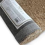 Superior Textured Shag Area Rug, Beige, 5' x