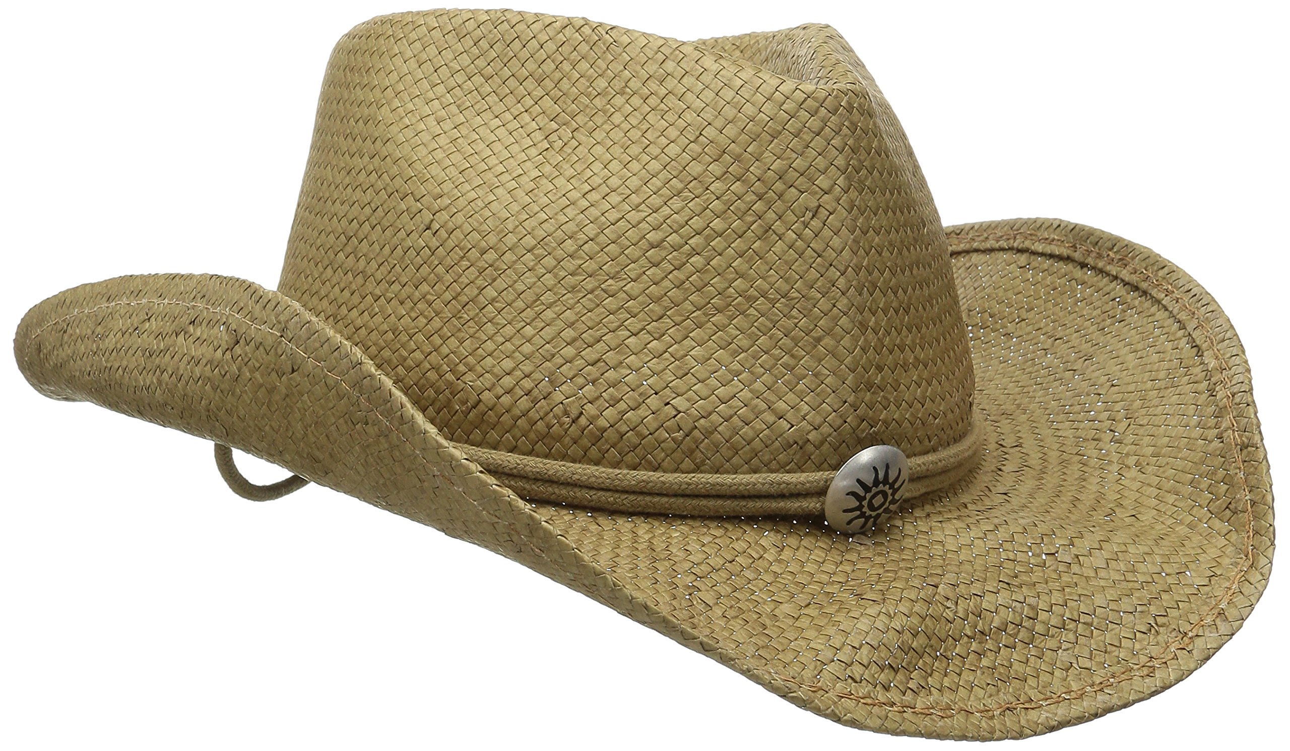 SCALA Women's Shapeable Toyo Western Hat, Tobacco, Large/X-Large