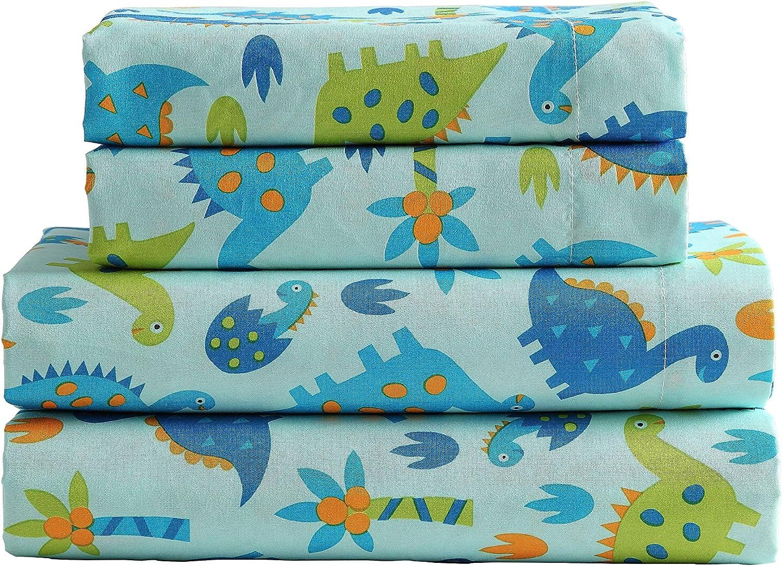 Lilac, Full Kute Kids Super Soft Sheet Set Polka Dot Brushed Microfiber for Extra Comfort