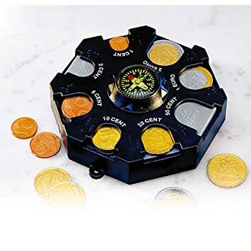 Monedas monedas dispensador de monedas de Euro de - Portamonedas Caja Organizador: Amazon.es: Jardín