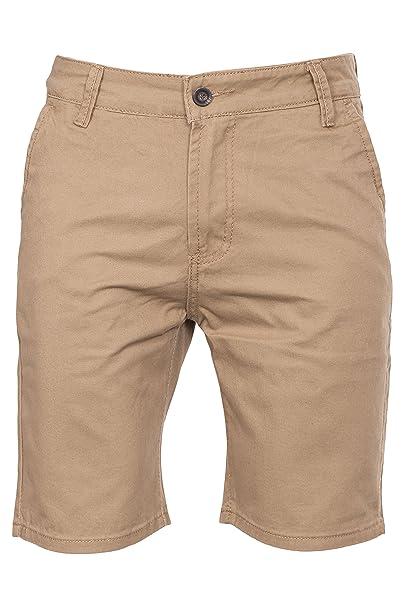 Noroze Herren Einfach Cotton Baumwolle Chino Shorts Kurze Hose (46, Kamel) 6df30de613
