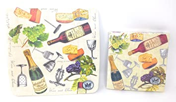 Wine and Cheese Winetasting Party Paper Plates and Napkins 28 Piece Set By Michel  sc 1 st  Amazon.com & Amazon.com: Wine and Cheese Winetasting Party Paper Plates and ...