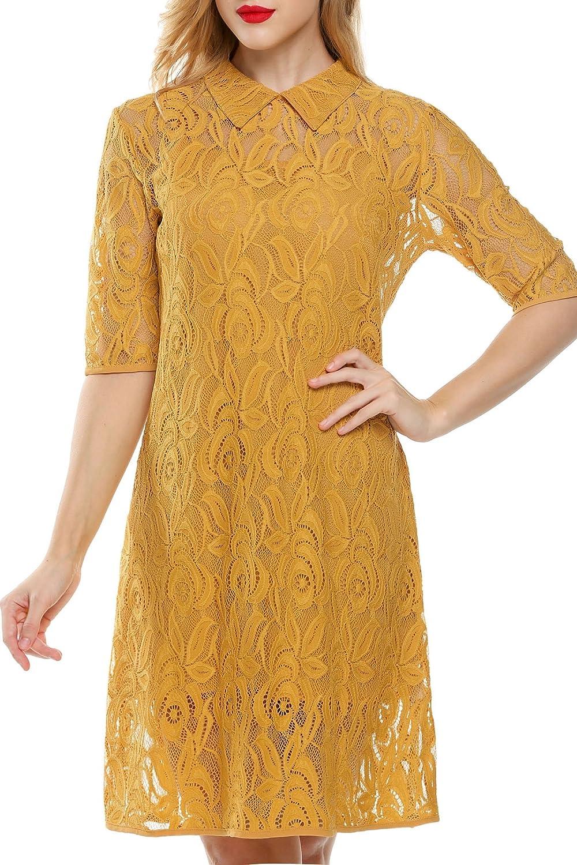 CRAVOG Sommer Damen Minikleid Partykleid Abendkleid Spitzenkleid kurz Kleider