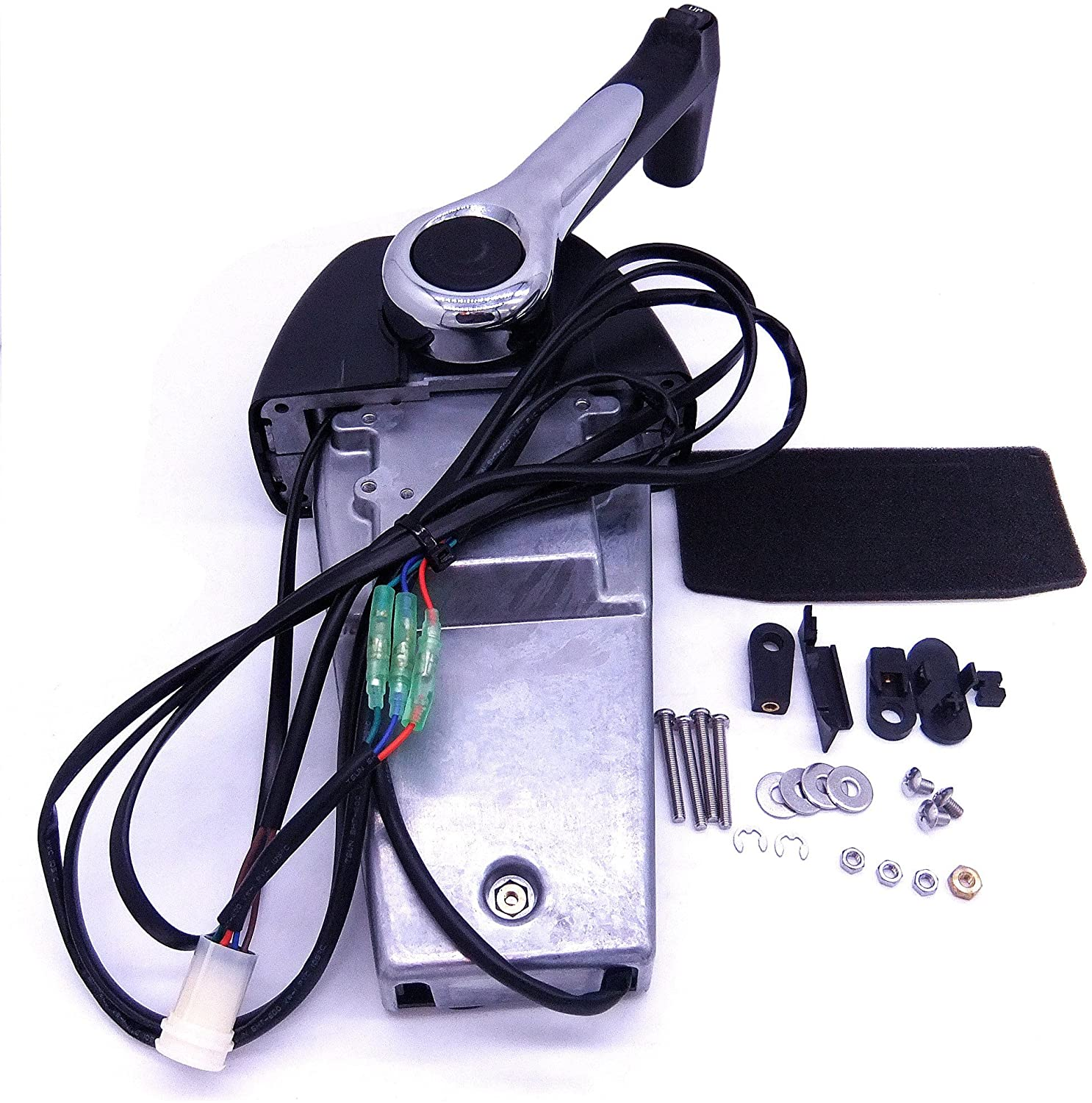 704 704-48205 Binnacle Single Engine Outboard Throttle Remote Control Box for Yamaha Outboard Engine/704-48205-P1-00