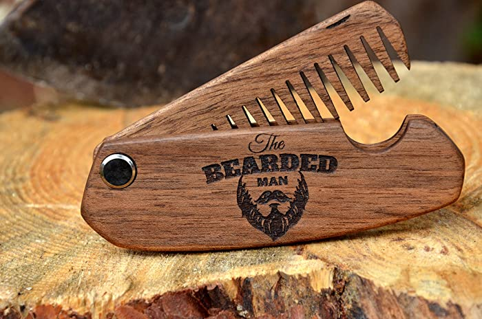 Amazon.com: Coworker Custom Christmas Gift Wood Beard Comb Hair ...