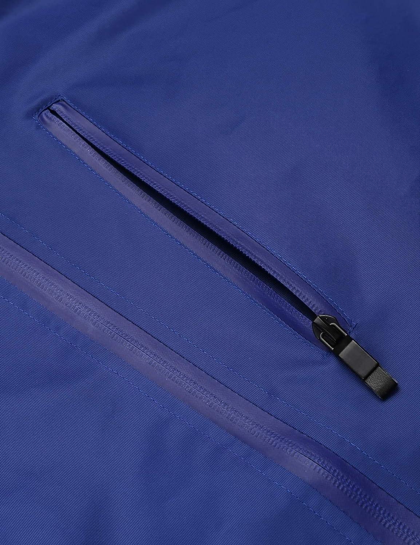 Modfine Regenjacke Herren Windbreaker Zipper /Übergangsjacke Wasserdicht Atmungsaktiv Outdoor Jacke Man Kapuzenjacke Funktionsjacke
