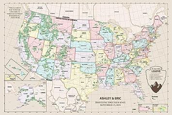 Amazon.com: United States Map on Cork Board - Personalized US ...